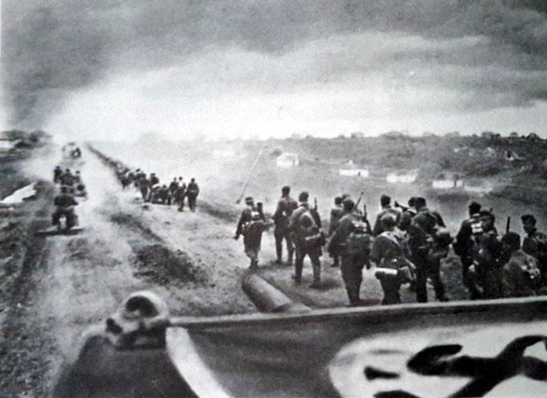 Panzer Division progressant dans la boucle du Don